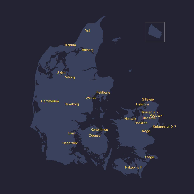Der kommer hele tiden nye lyspunkter på Danmarkskortet - hvis du savner en samtalesalon nær dig, opfordrer vi dig til at holde den selv. Det er nemt, sjovt og meget inspirerende.